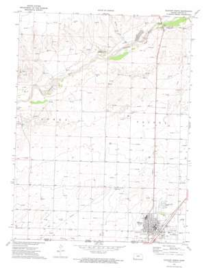 Elkhart North topo map