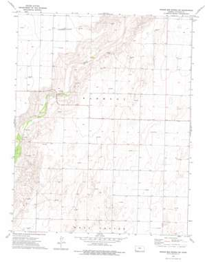 Wagon Bed Spring Sw topo map