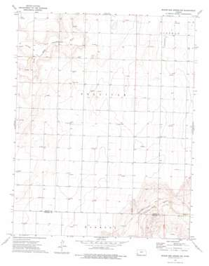 Wagon Bed Spring Nw topo map