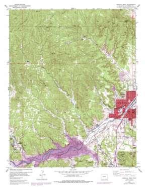 Trinidad West topo map