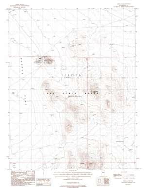 Mellan topo map