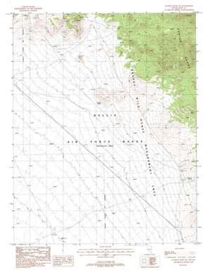 Kawich Peak Sw topo map