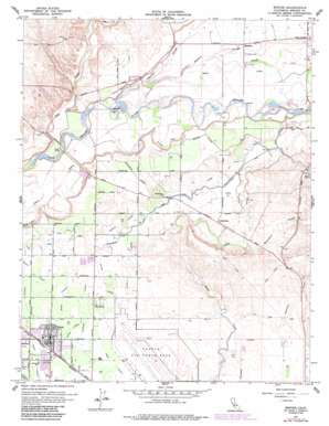 Winton topo map