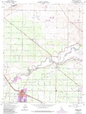 Cressey topo map