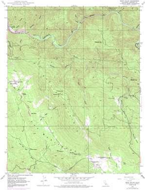 Bear Valley topo map