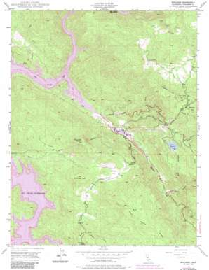 Moccasin topo map
