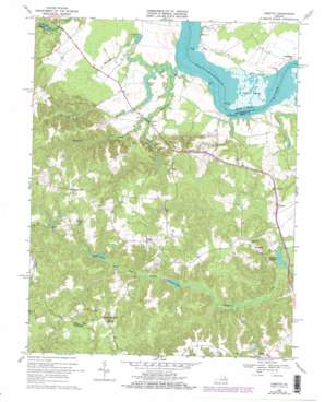 Loretto USGS topographic map 38077a1