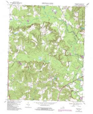 Woodford topo map