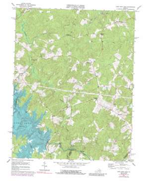 Lake Anna East USGS topographic map 38077a6