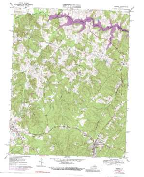 Mineral topo map