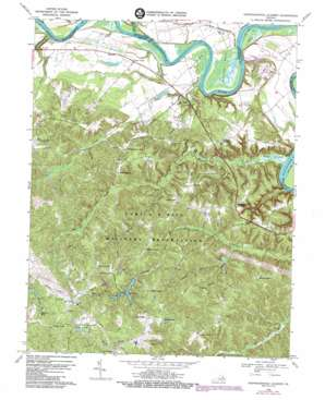 Rappahannock Academy topo map