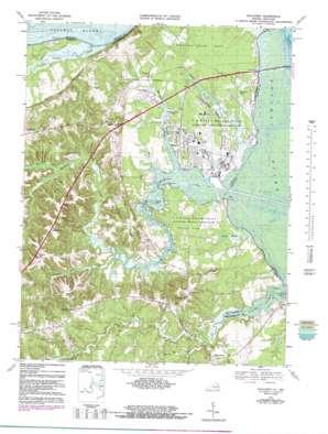 Dahlgren topo map