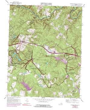 Chancellorsville topo map