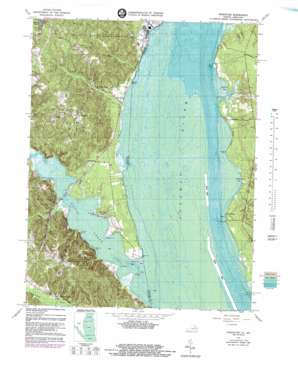 Widewater topo map