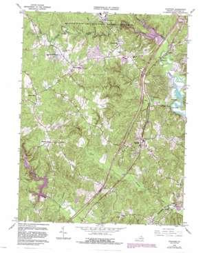 Stafford topo map