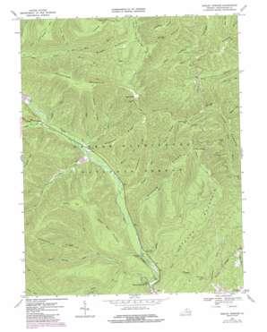Rawley Springs topo map