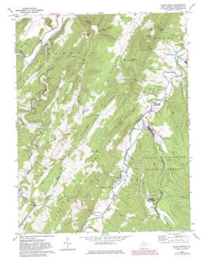 Sugar Grove topo map