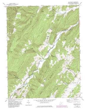 Moatstown topo map