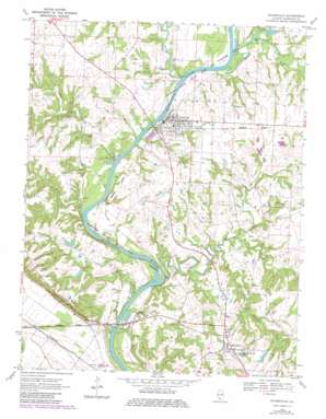 Evansville topo map