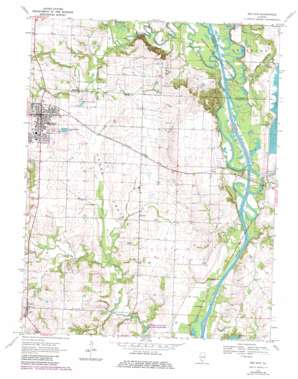 Red Bud topo map