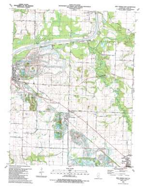 New Athens East topo map