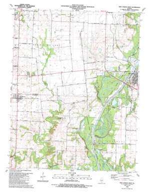 New Athens West topo map
