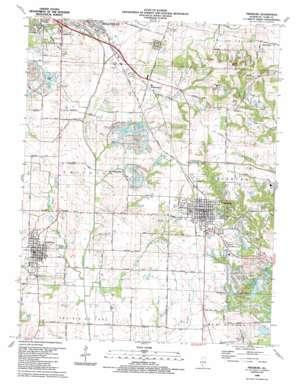 Freeburg topo map