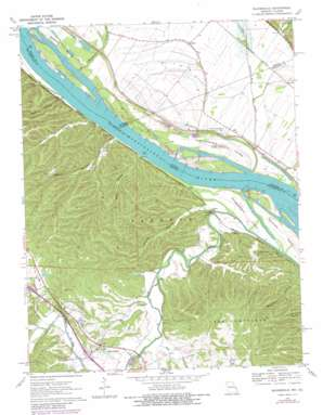 Bloomsdale USGS topographic map 38090a2