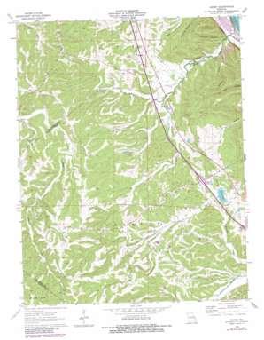 Danby topo map