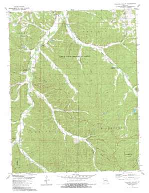 Cyclone Hollow topo map