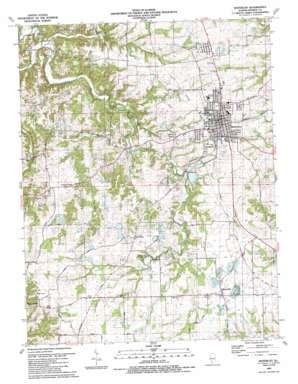 Waterloo topo map