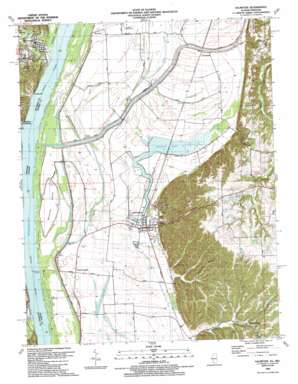 Valmeyer topo map