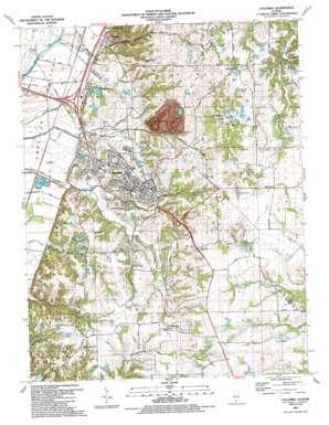Columbia topo map