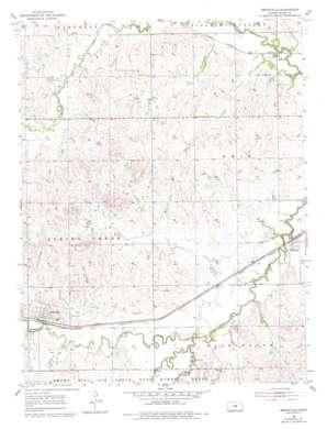 Brookville topo map