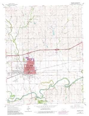 Abilene topo map