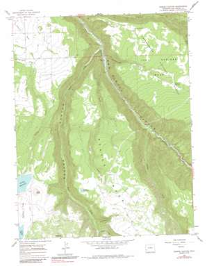 Gurley Canyon topo map