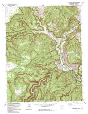 Horse Range Mesa topo map