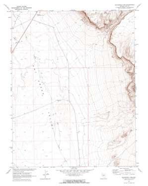 Buckwheat Rim topo map
