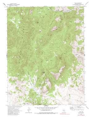 Tybo topo map