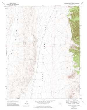 Georges Canyon Rim Se topo map