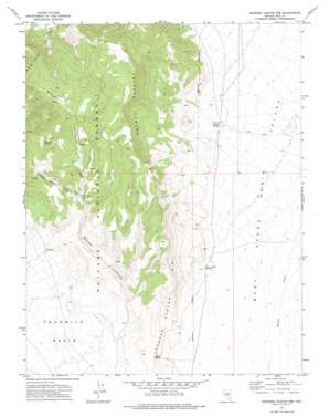 Georges Canyon Rim USGS topographic map 38116c6