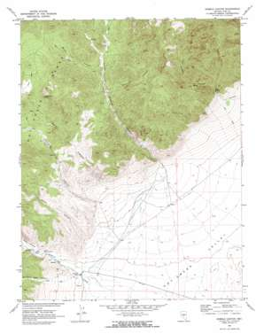 Hobble Canyon topo map