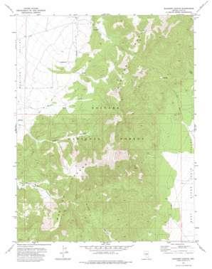 Elkhorn Canyon topo map