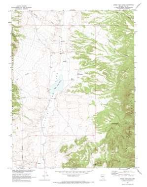 Upper Fish Lake topo map