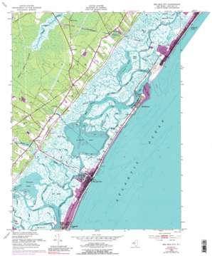 Sea Isle City topo map