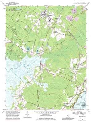 Woodbine topo map
