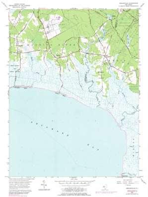 Heislerville topo map