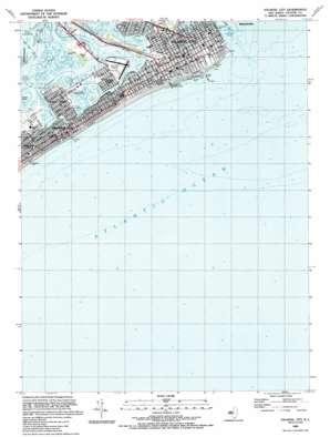 Atlantic City topo map