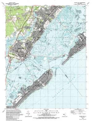 Ocean City topo map