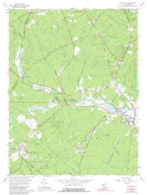 Tuckahoe topo map